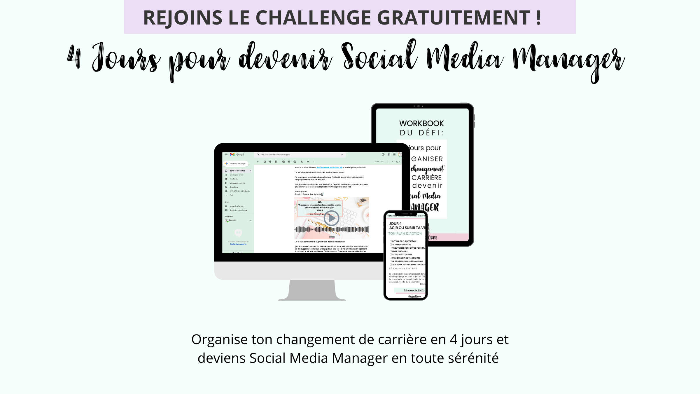 challenge 4 jours pour devenir social media manager by debynski
